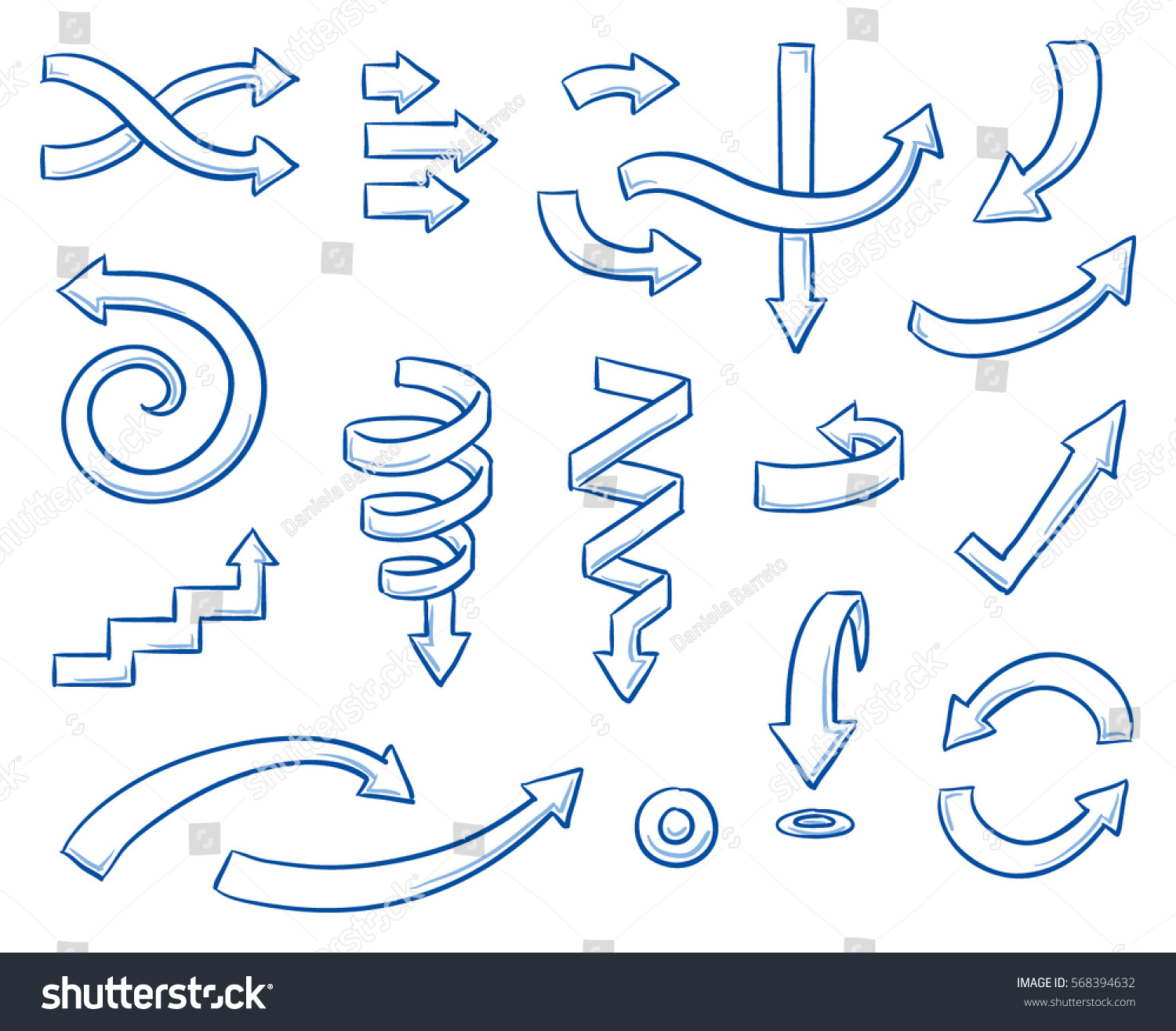 Set different curved arrows work flow stock vector 568394632 set of different curved arrows for work flow charts video clips or infographics hand nvjuhfo Choice Image