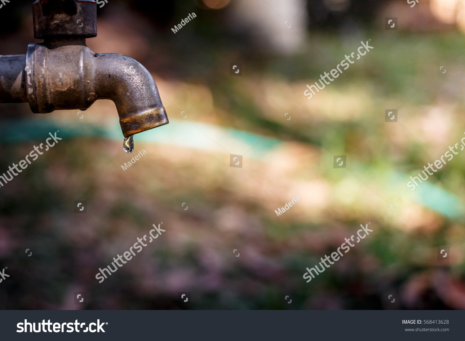 Soft Focus Defective Faucet Cause Wastage Stock Photo & Image ...