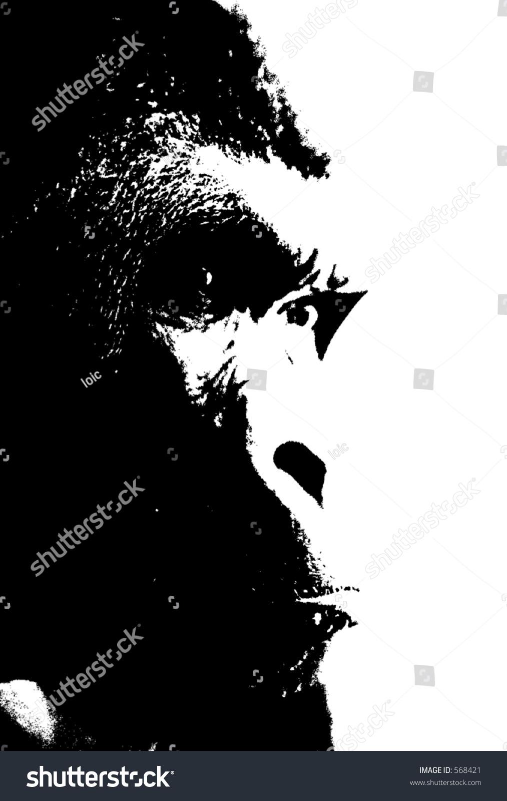Gorilla face silhouette