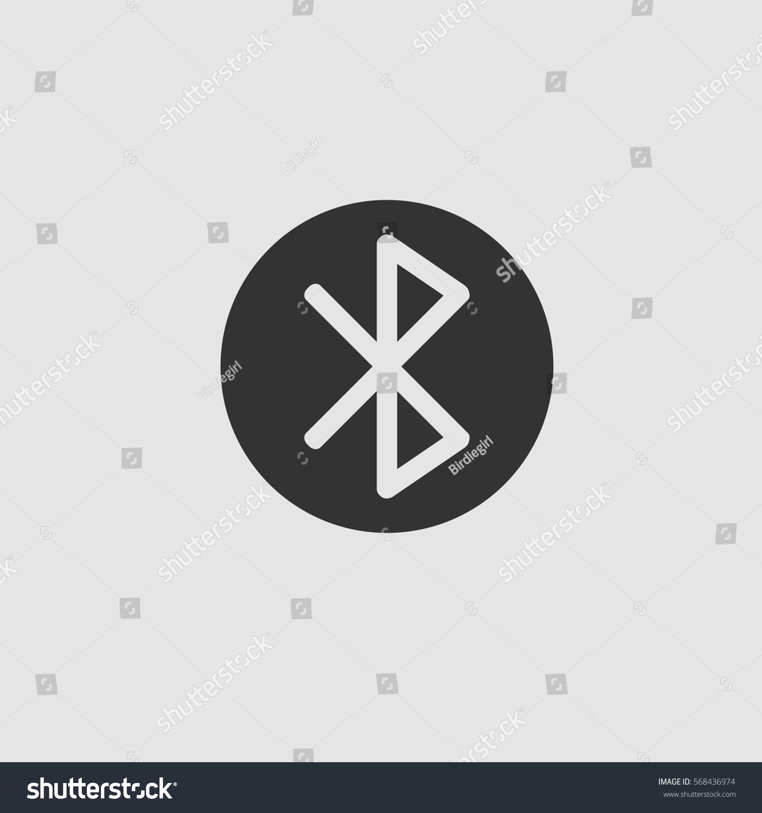 Bluetooth Icon Flat Black Pictogram On Stock Vector Royalty Free