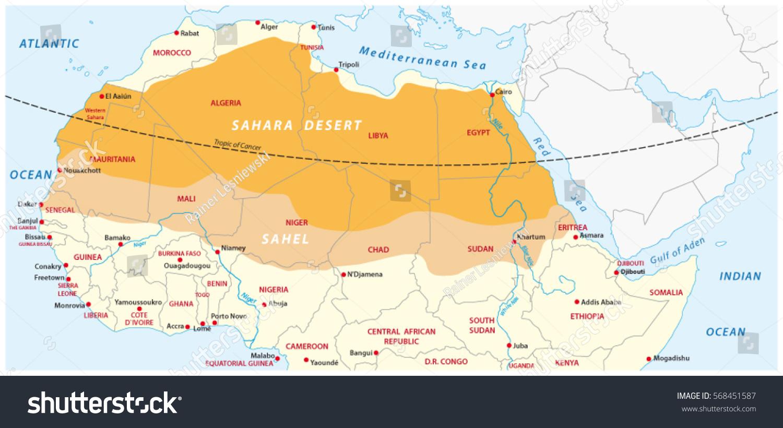 Map Of The Sahara Desert Aphisvirtualmeet