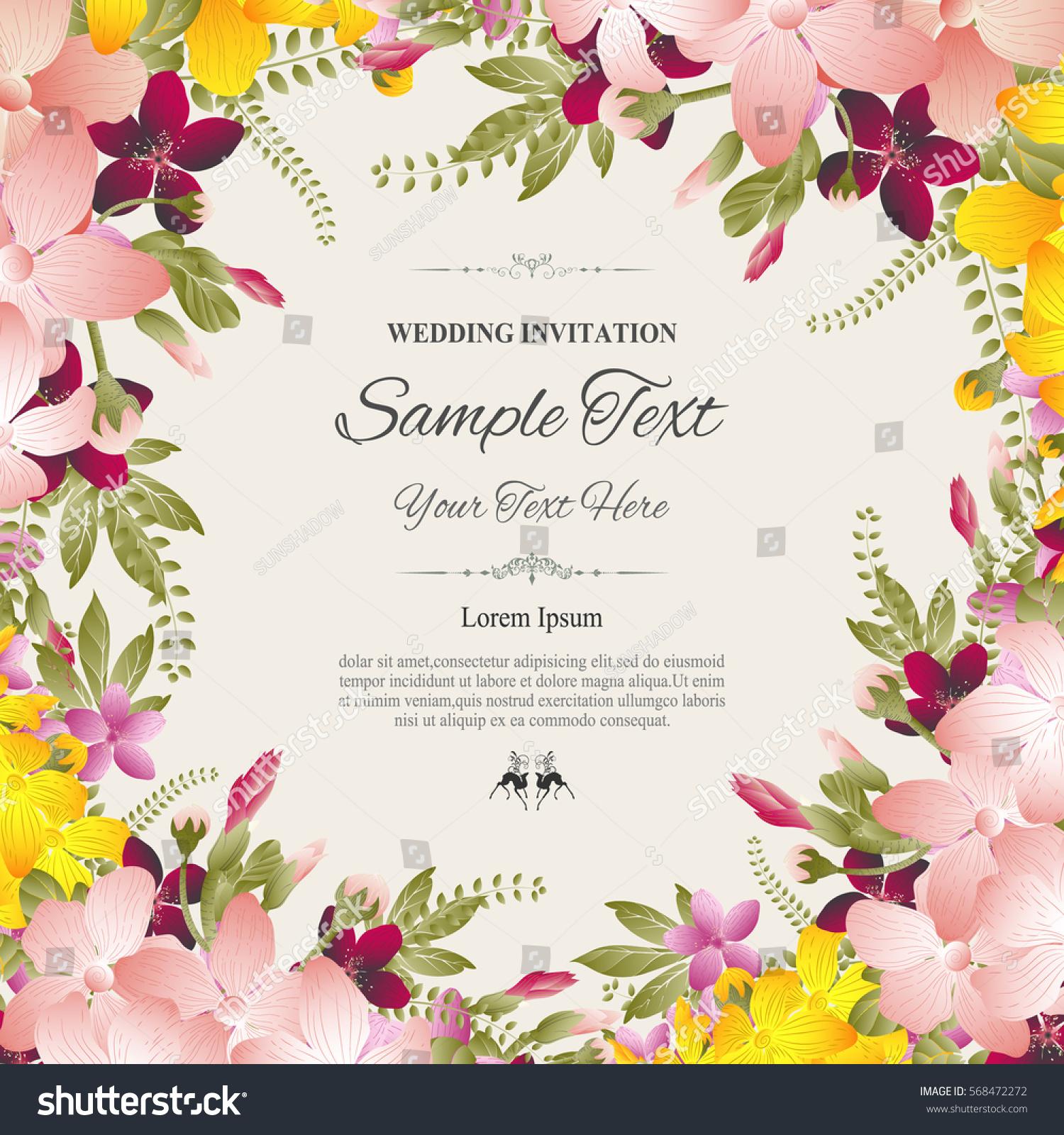 Wedding invitation greeting card abstract floral stock vector wedding invitation or greeting card with abstract floral background vector illustration filmwisefo
