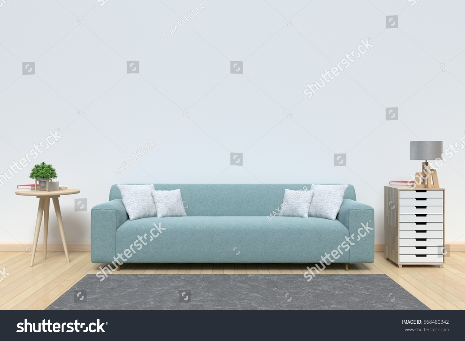 living room sofa have pillows lamp stock illustration 568480342 living room with sofa have pillows lamp books and vase with flowers on white