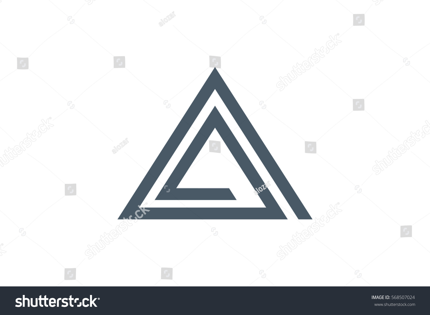 The Letter A Logo Design On Stylish Graphic