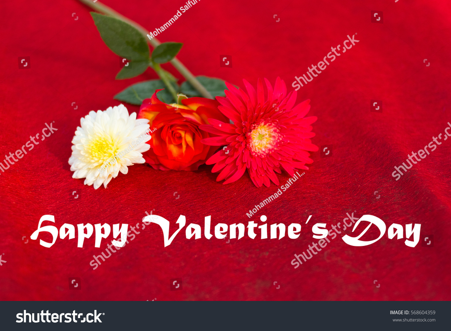 Happy valentines day valentines day greetings stock photo 568604359 happy valentines day valentines day greetings on red background with beautiful kristyandbryce Choice Image