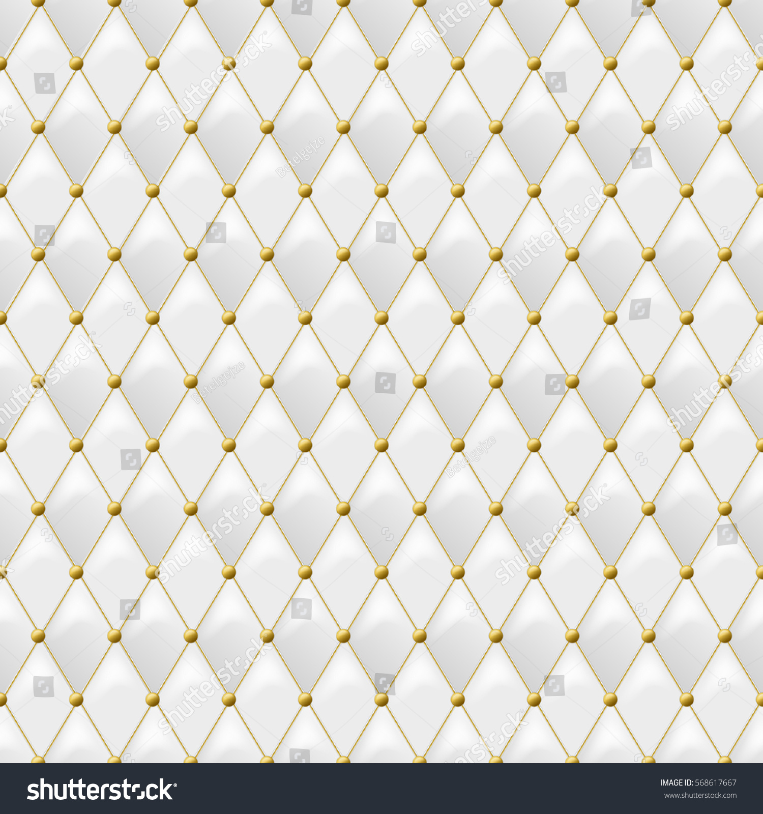 Seamless White Leather Texture Gold Metal 568617667