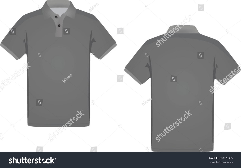 Black t shirt vector photoshop - Men Polo T Shirt Vector