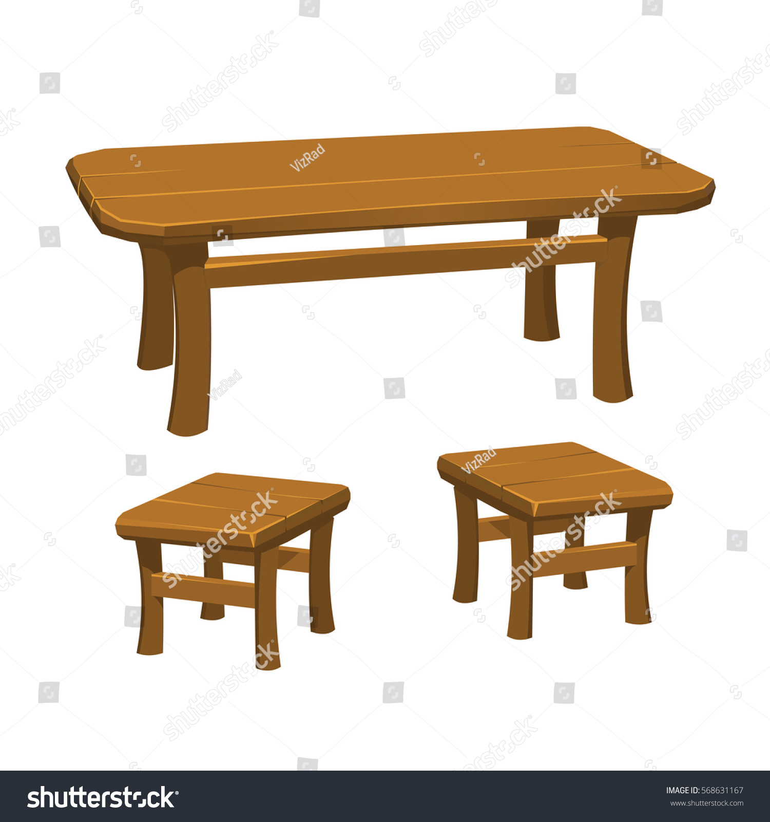 Rustic medieval table chairs stock vector 568631167 shutterstock rustic medieval table with chairs geotapseo Images