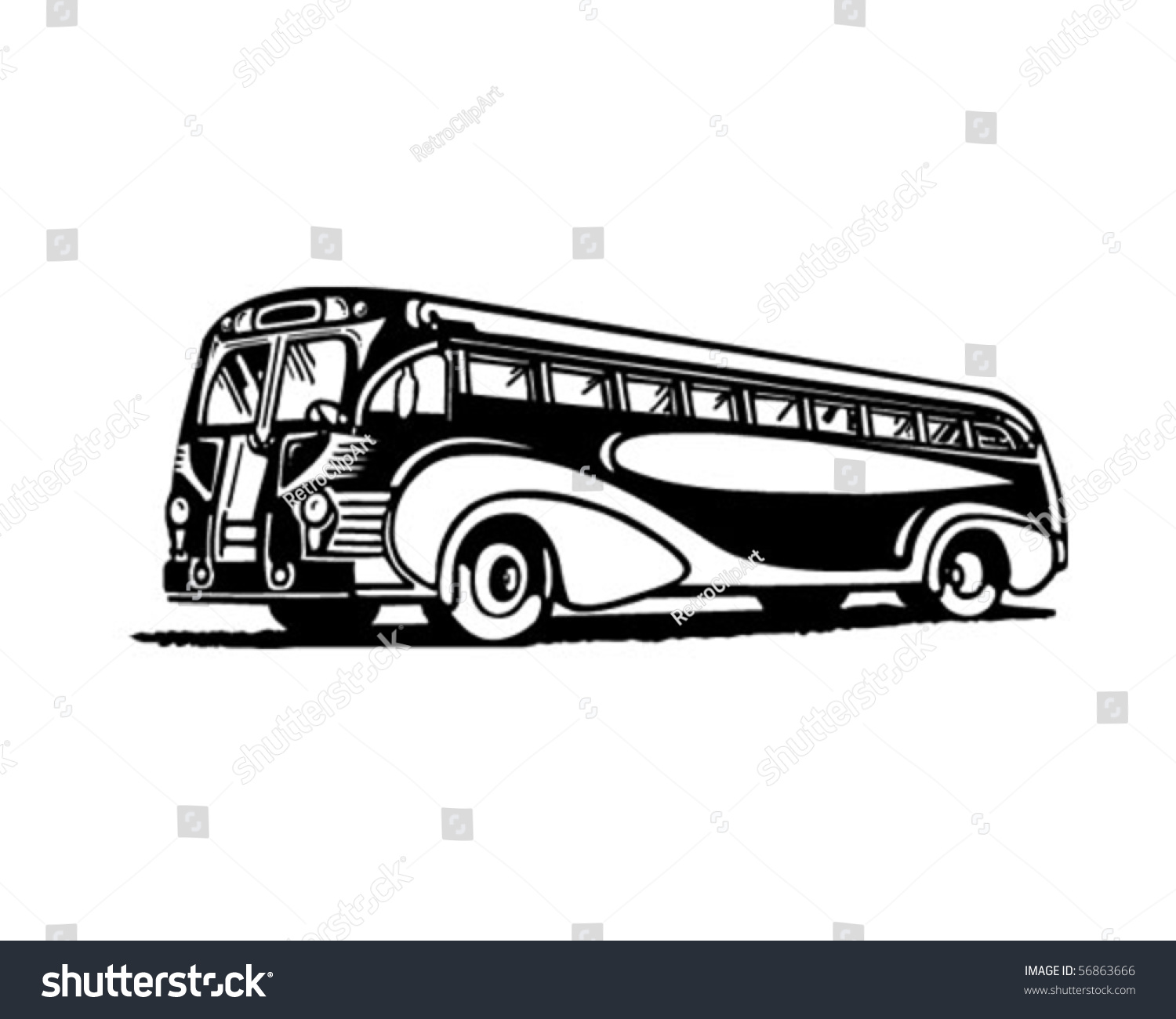 Greyhound Bus Clipart Vintage bus stock photos, images, & pictures ...
