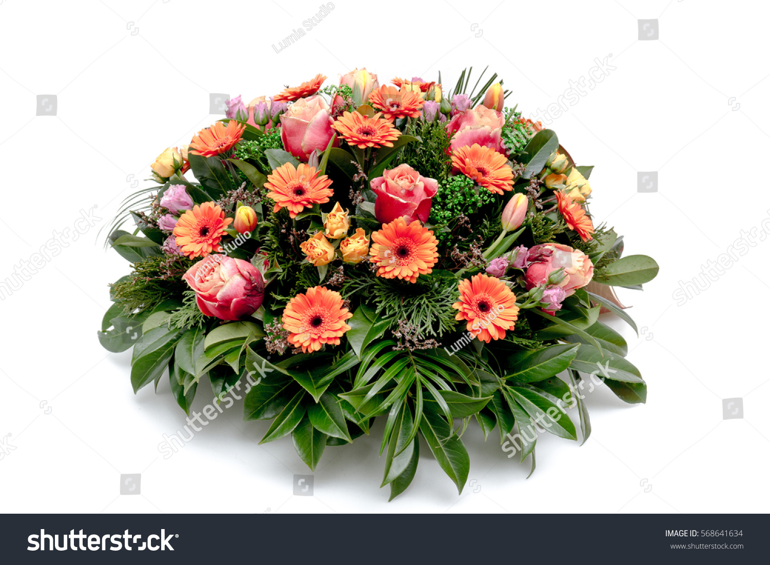 Funeral flower wreath ikebana isolated on a white background ez canvas izmirmasajfo