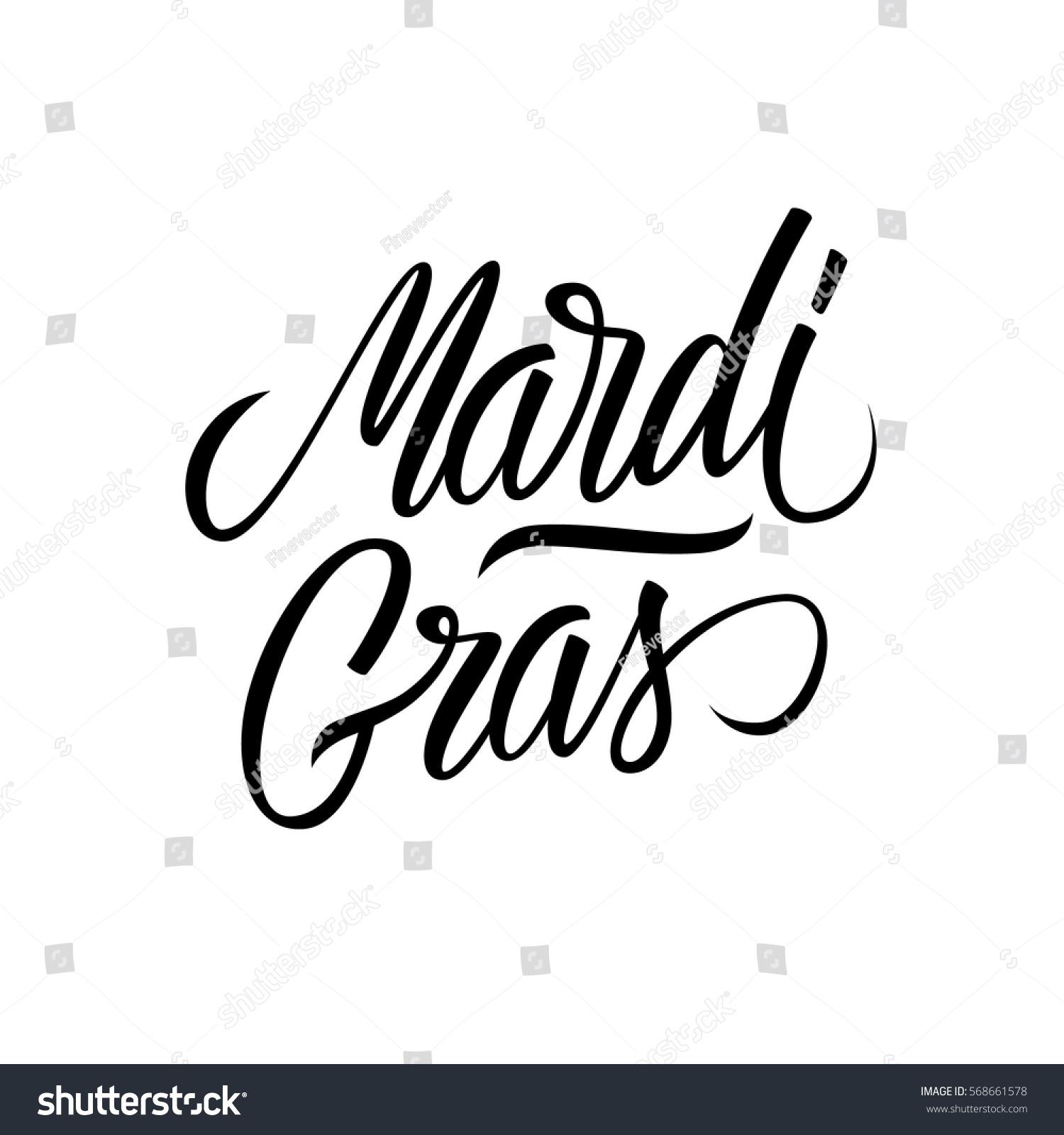 Mardi gras calligraphic lettering text design creative typography id 568661578 m4hsunfo