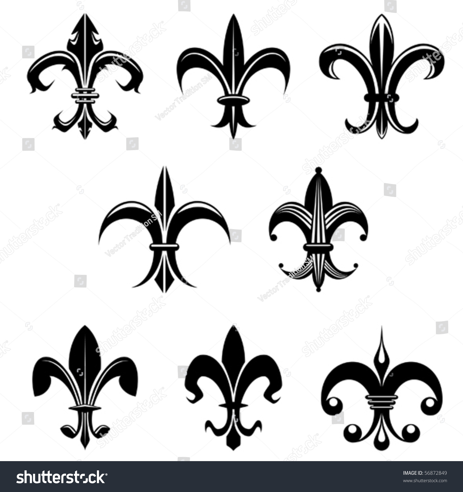 Royalty free royal french lily symbols also as 56872849 stock royal french lily symbols also as emblem or logo template jpeg version also available biocorpaavc Gallery