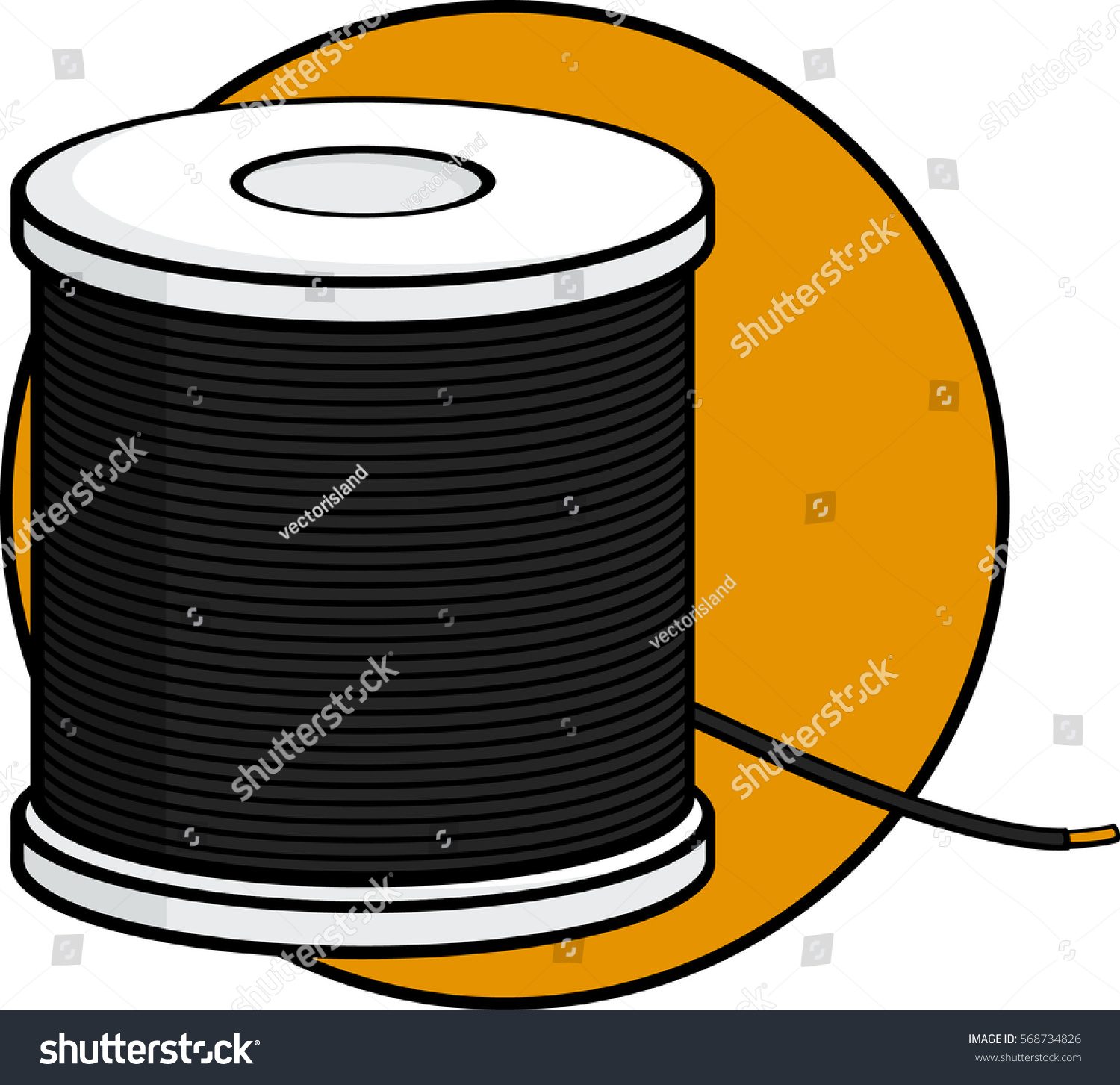 Insulated Wire Spool Stock Vector (Royalty Free) 568734826 ...