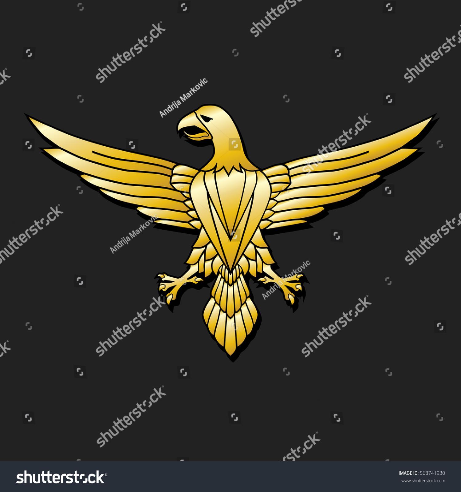 Golden Eagle Emblem Stock Illustration 568741930 Shutterstock