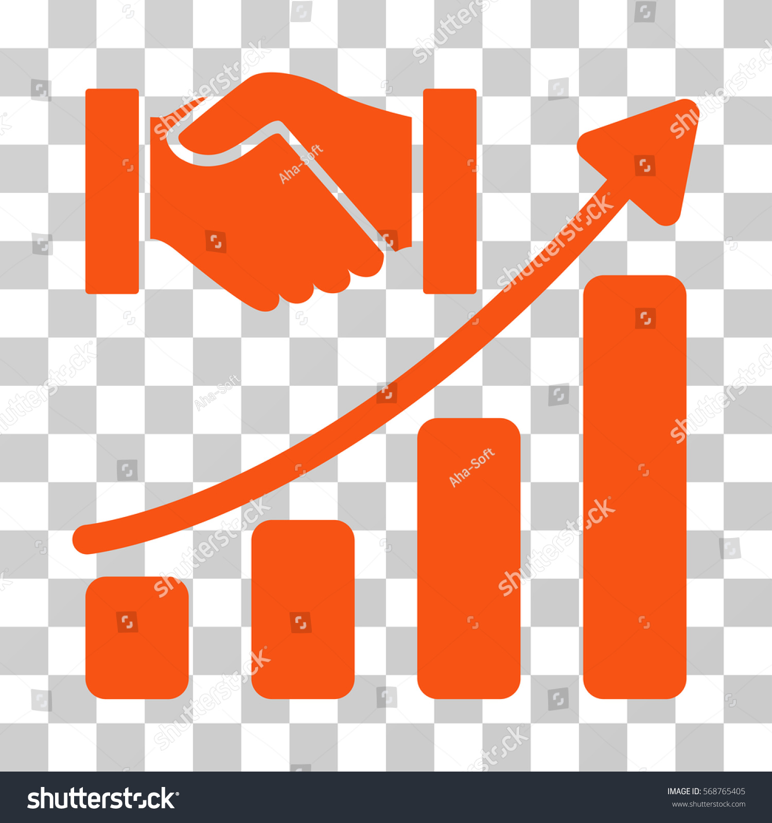 Acquisition hands growth chart icon vector stock vector 568765405 acquisition hands growth chart icon vector illustration style is flat iconic symbol orange color nvjuhfo Images