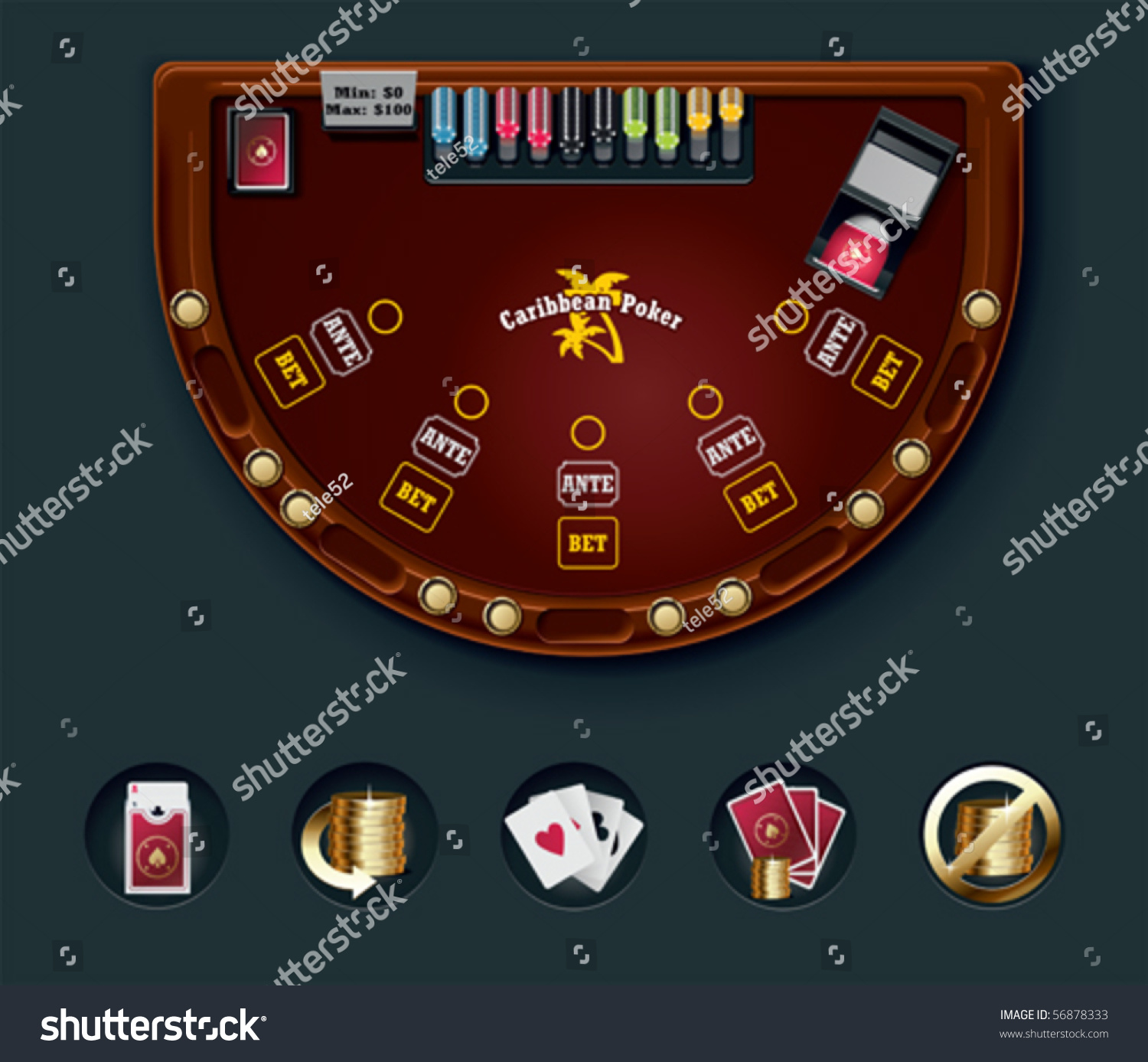 Poker table layout