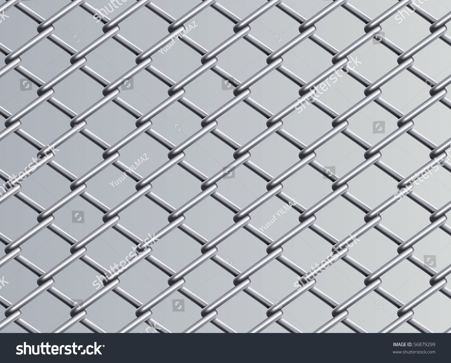 Chain Link Fence Drawing chain link fence set 1 vector stock vector 56879299 - shutterstock