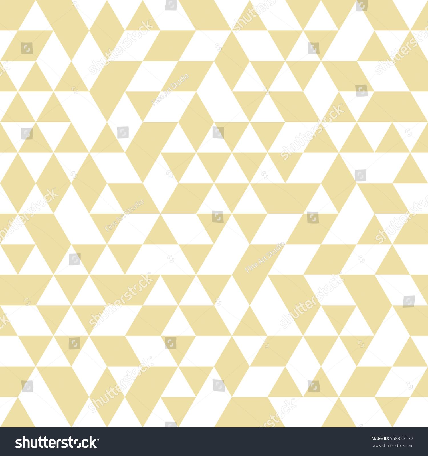 Geometric Vector Pattern Golden White Triangles Stock ...