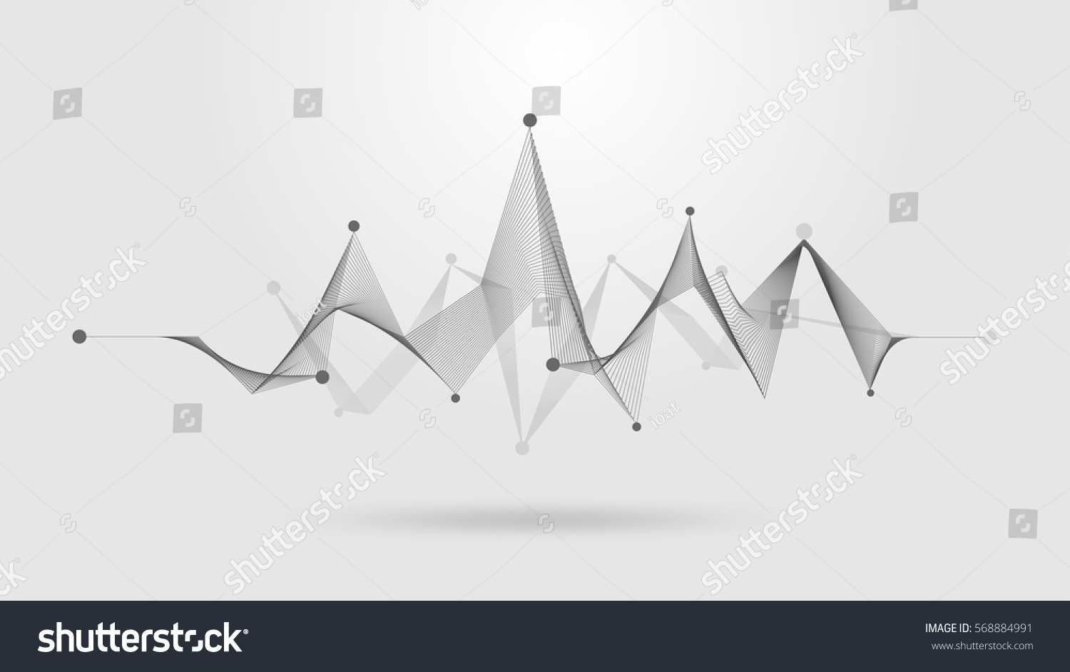 wireframe sound wave stock vector 568884991 shutterstock