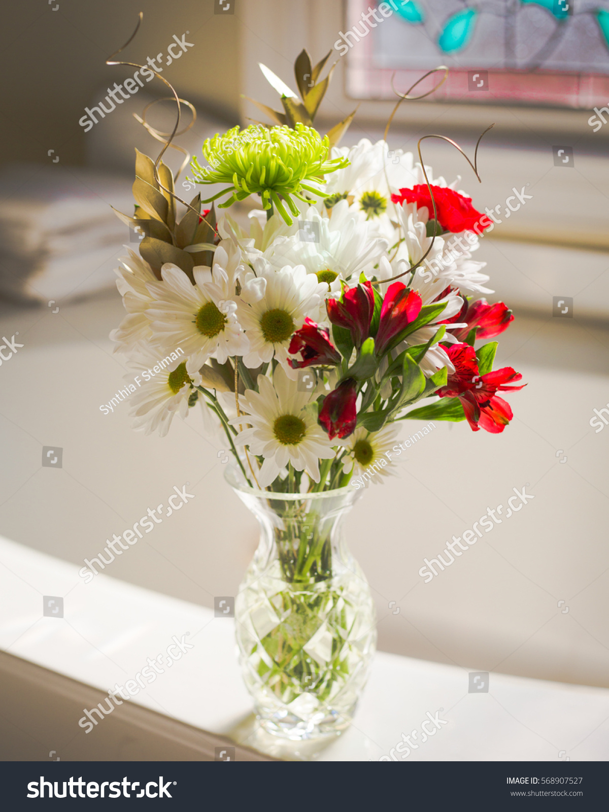 Bouquet Flowers Bathroom Stock Photo Edit Now 568907527