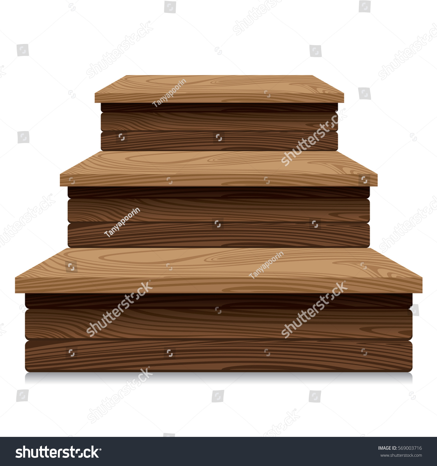 Wooden market stall on white background  Retail Trade Stand. Wooden Market Stall On White Background Stock Vector 569003716