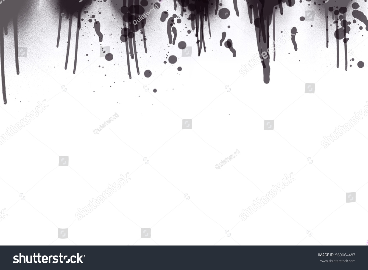 Illustration of water color splash background in black and white tone color
