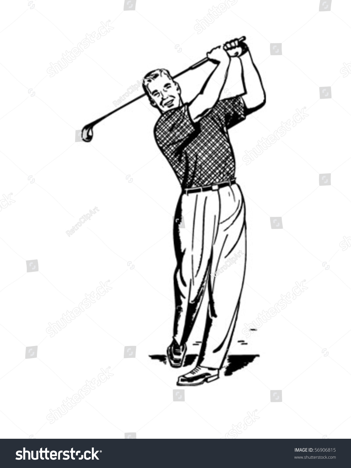 free vintage golf clip art - photo #42