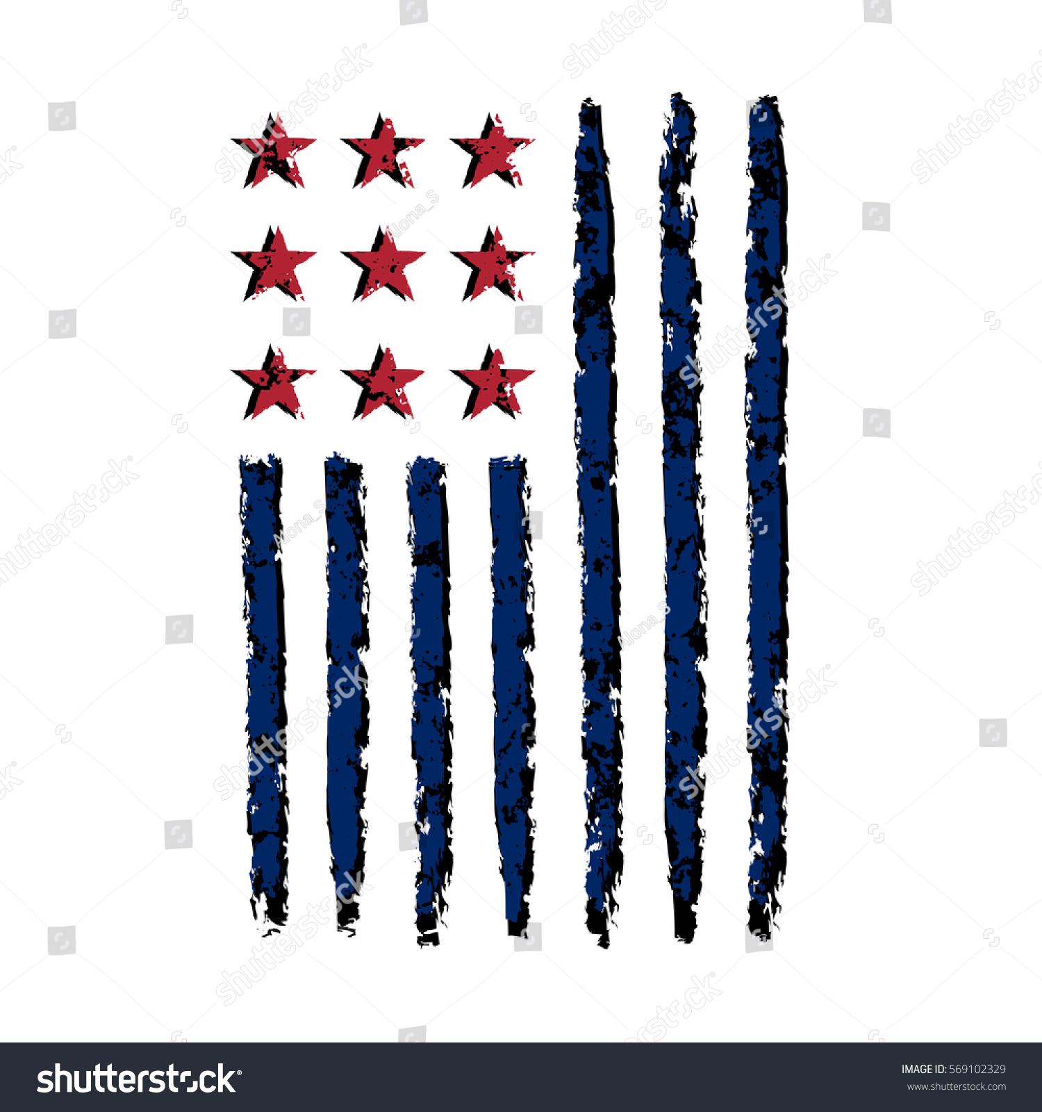 American flag grunge symbol 4th july stock illustration 569102329 american flag grunge symbol for 4th july independence day celebration patriotic typography graphics biocorpaavc