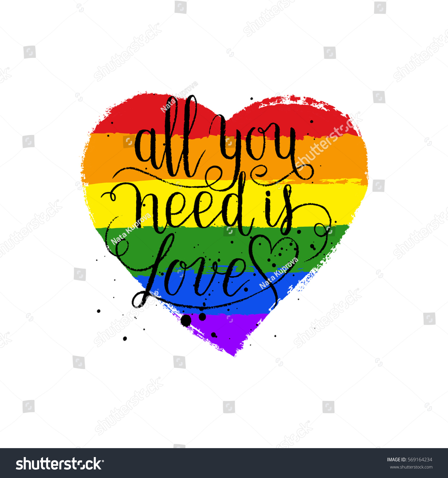 lgbt gay and lesbian pride greeting cards posters with spectrum hand drawn paint strokes - Gay Valentines Cards