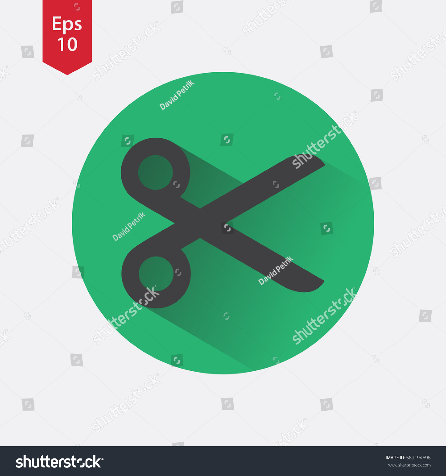 Scissors icon circle simple flat symbol stock vector 569194696 scissors icon in circle simple flat symbol of shears vector illustrated sign biocorpaavc