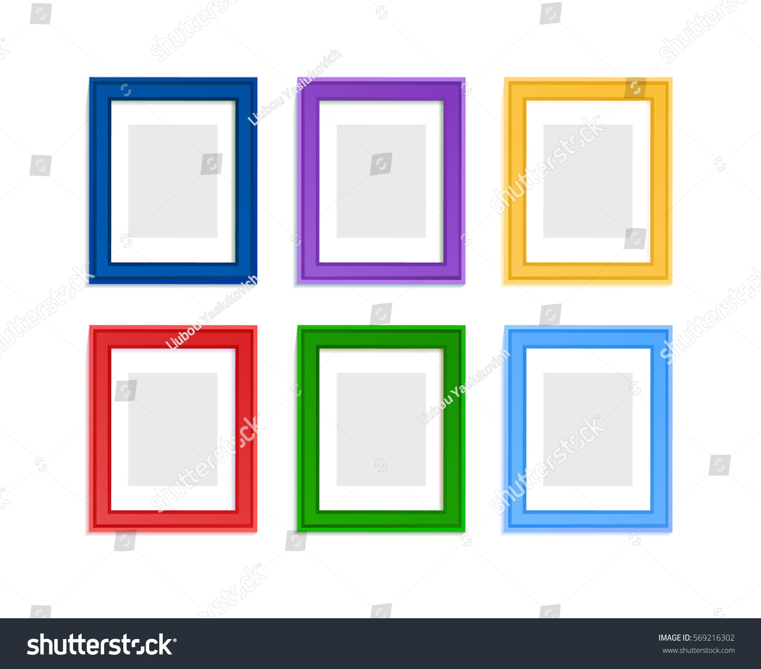 Multi Colored Photo Frames Children Picture Stock Vector (Royalty ...