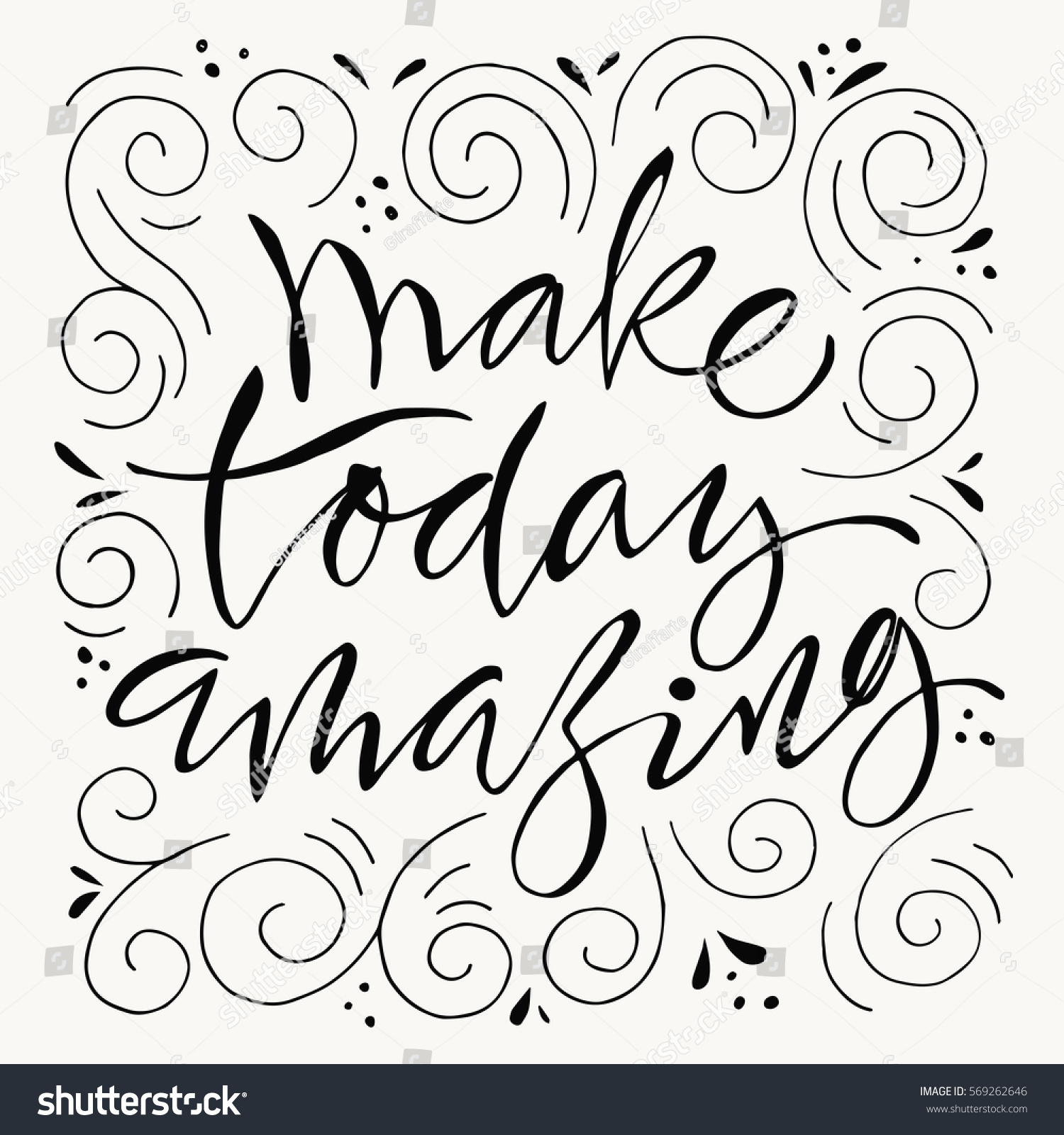 make today amazing motivational poster cool stock vector royalty