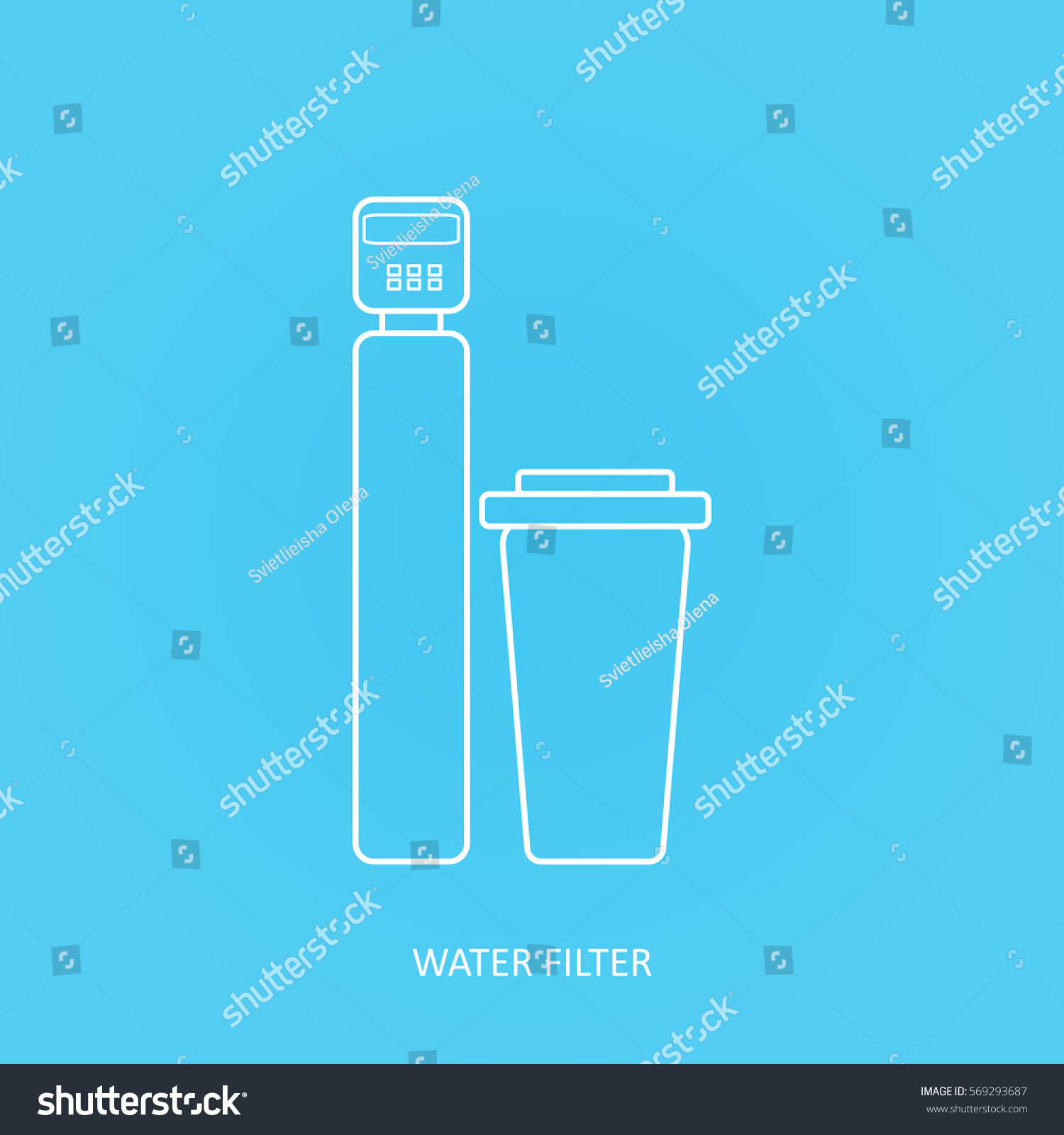 Tap Water Filter Icon Drink Home Stock Vector Shutterstock