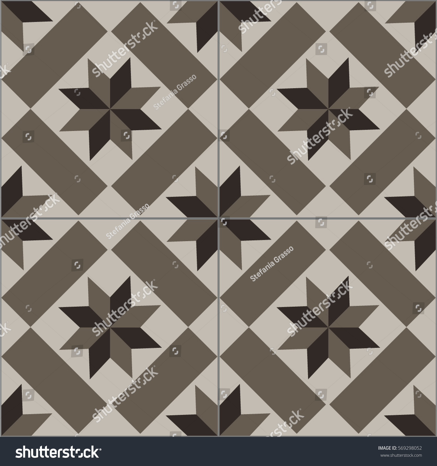 patterned floor wall tiles modern decor stock vector 569298052 patterned floor and wall tiles modern decor of the traditional encaustic technique ceramic decorative