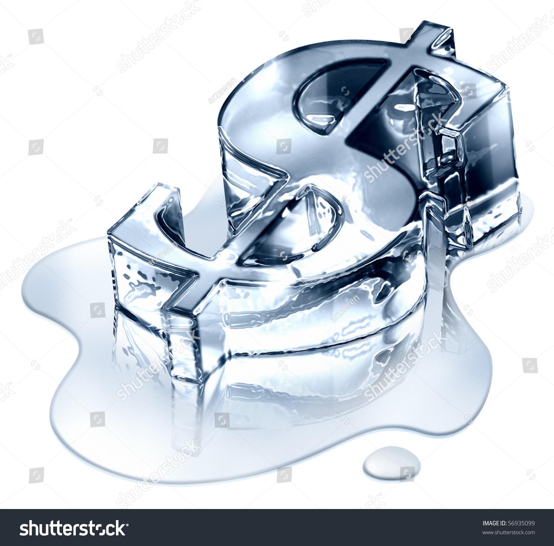 Crisis finance dollar symbol melting ice stock illustration crisis finance the dollar symbol in melting ice devaluation money symbolizing the bankruptcy buycottarizona Images
