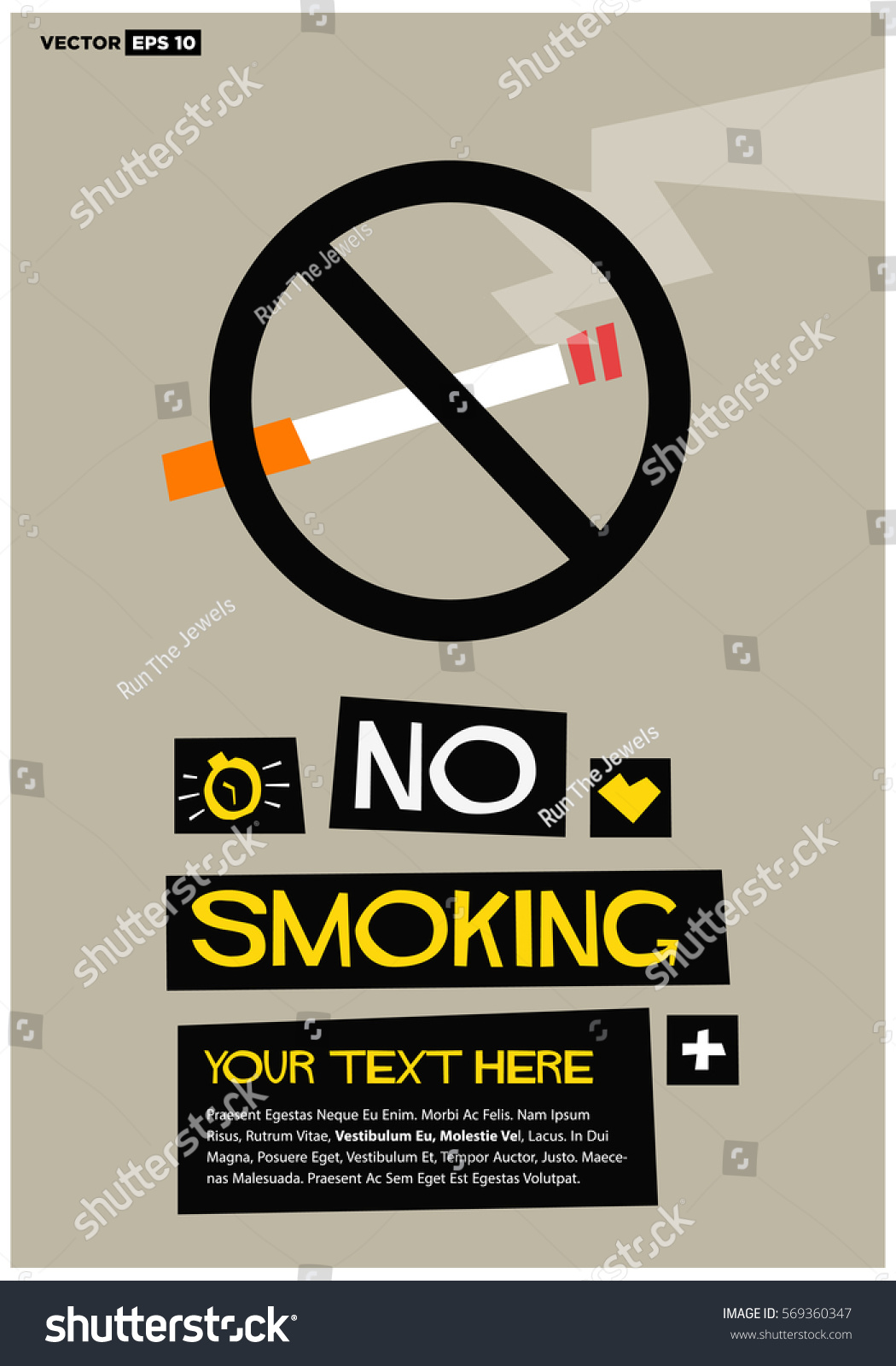 no smoking sign flat style vector stock vector 569360347