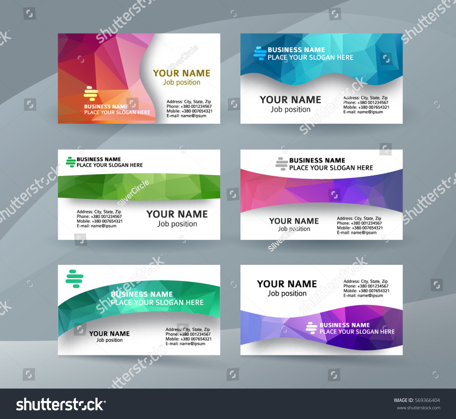 Abstract Professional Designer Business Card e Stock Vector