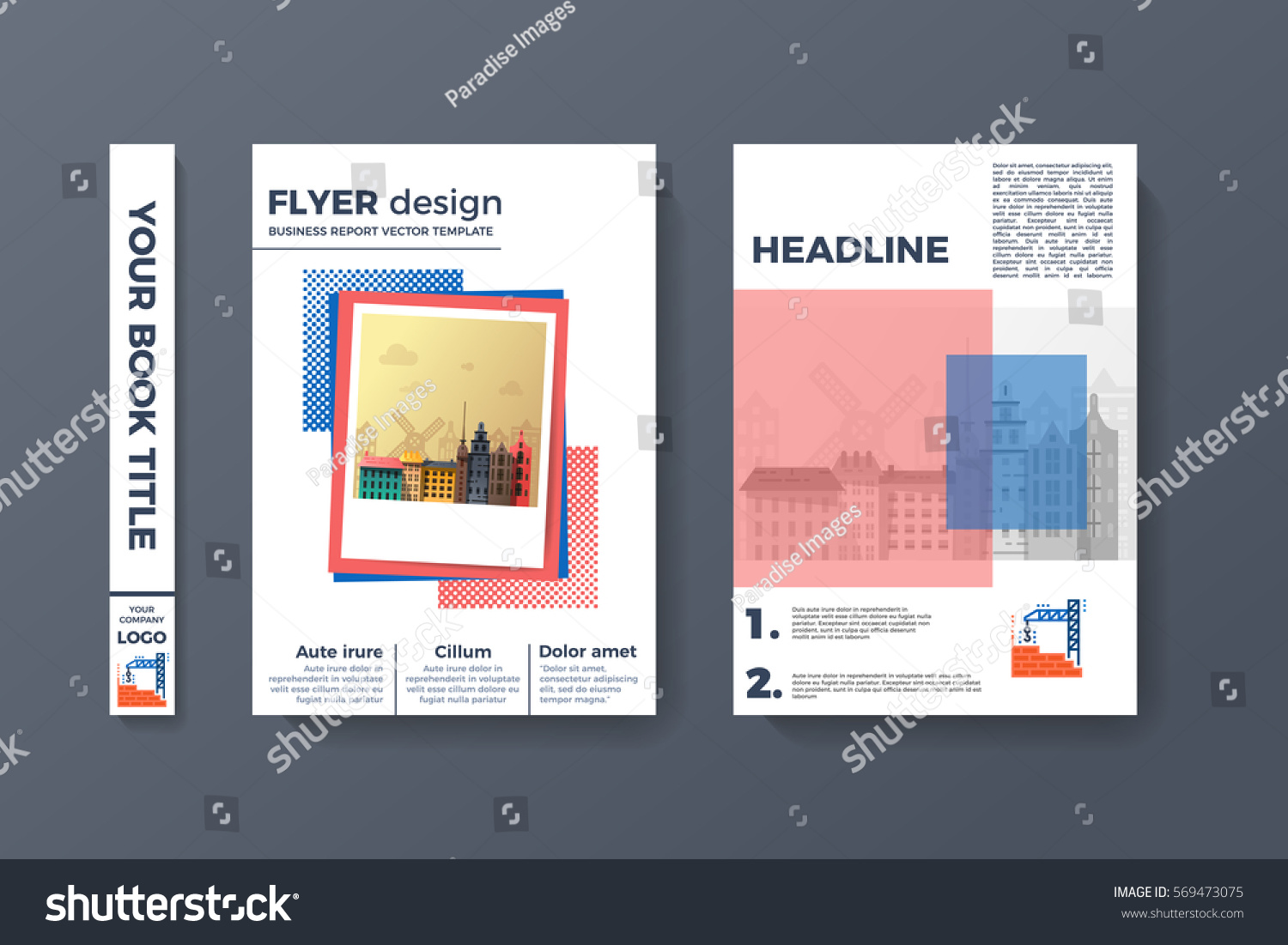 Flyer design brochure template vector a 4 stock vector hd royalty brochure template vector a4 abstract binder layout creative book front flashek Images
