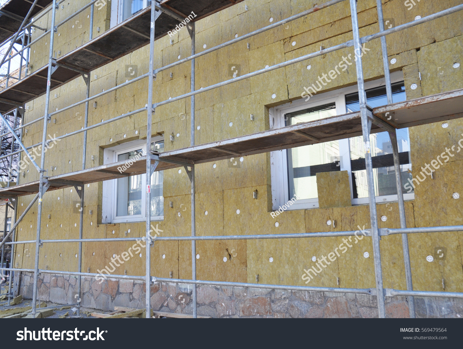 Exterior Building Insulation : External wall insulation solid stock photo
