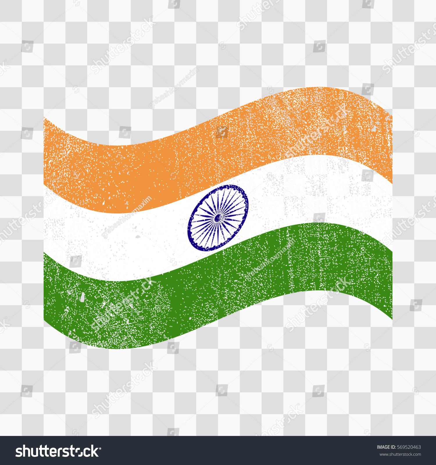 Grunge India Flag Indian Flag Distress Stock Vector 569520463 ...