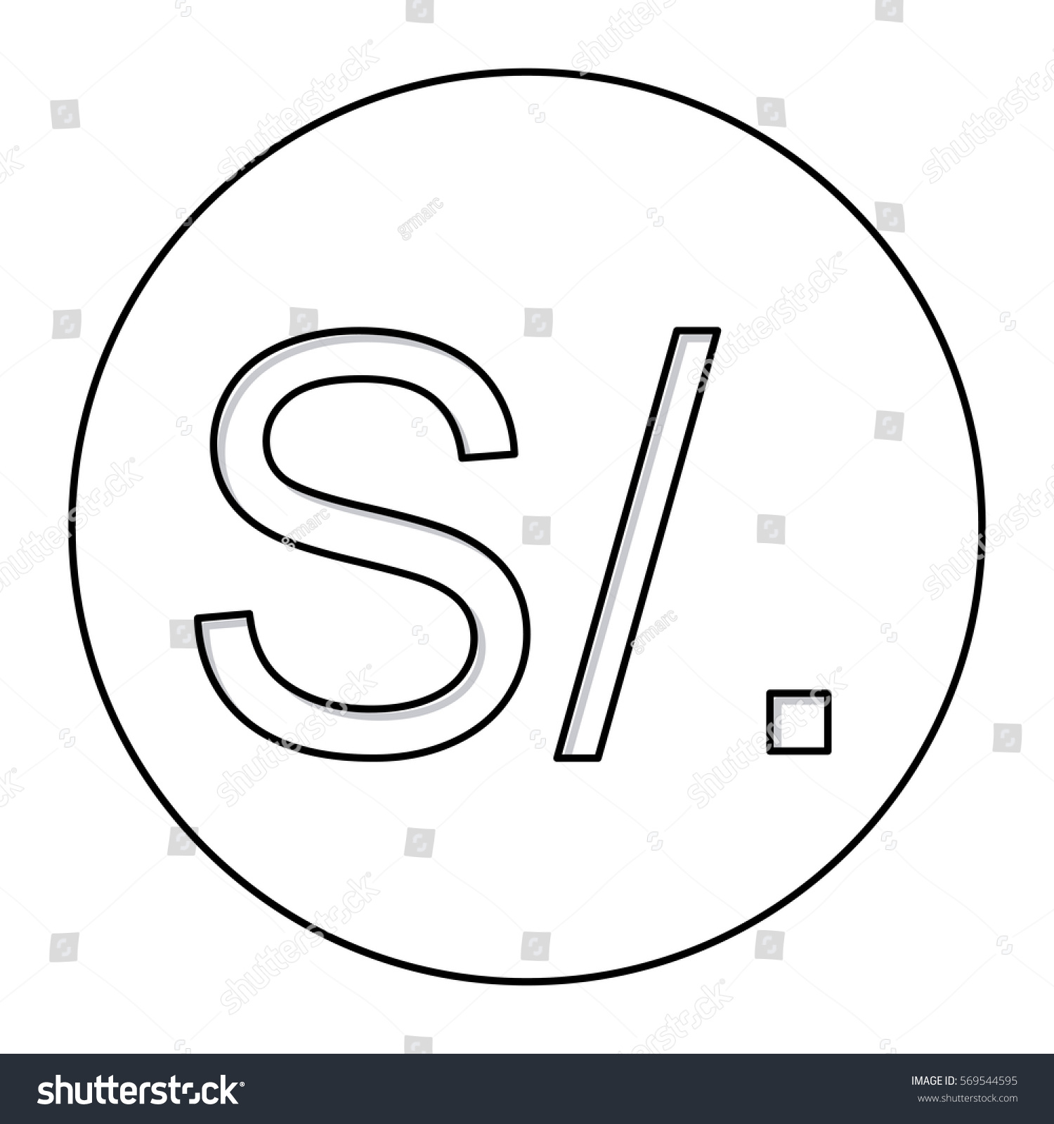 Symbol for sol clipart library monochrome contour currency symbol sol peru stock vector 569544595 symbol for solar city symbol for solid state relay buycottarizona