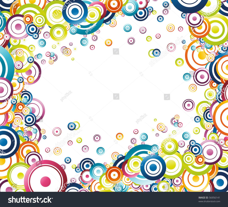 Colorful Rainbow Frame Vector Illustration Stock Vector 56956141 ...