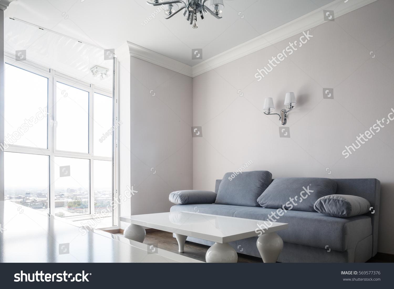Contemporary Living Room Luxurious Designer Apartment Stock Photo ...