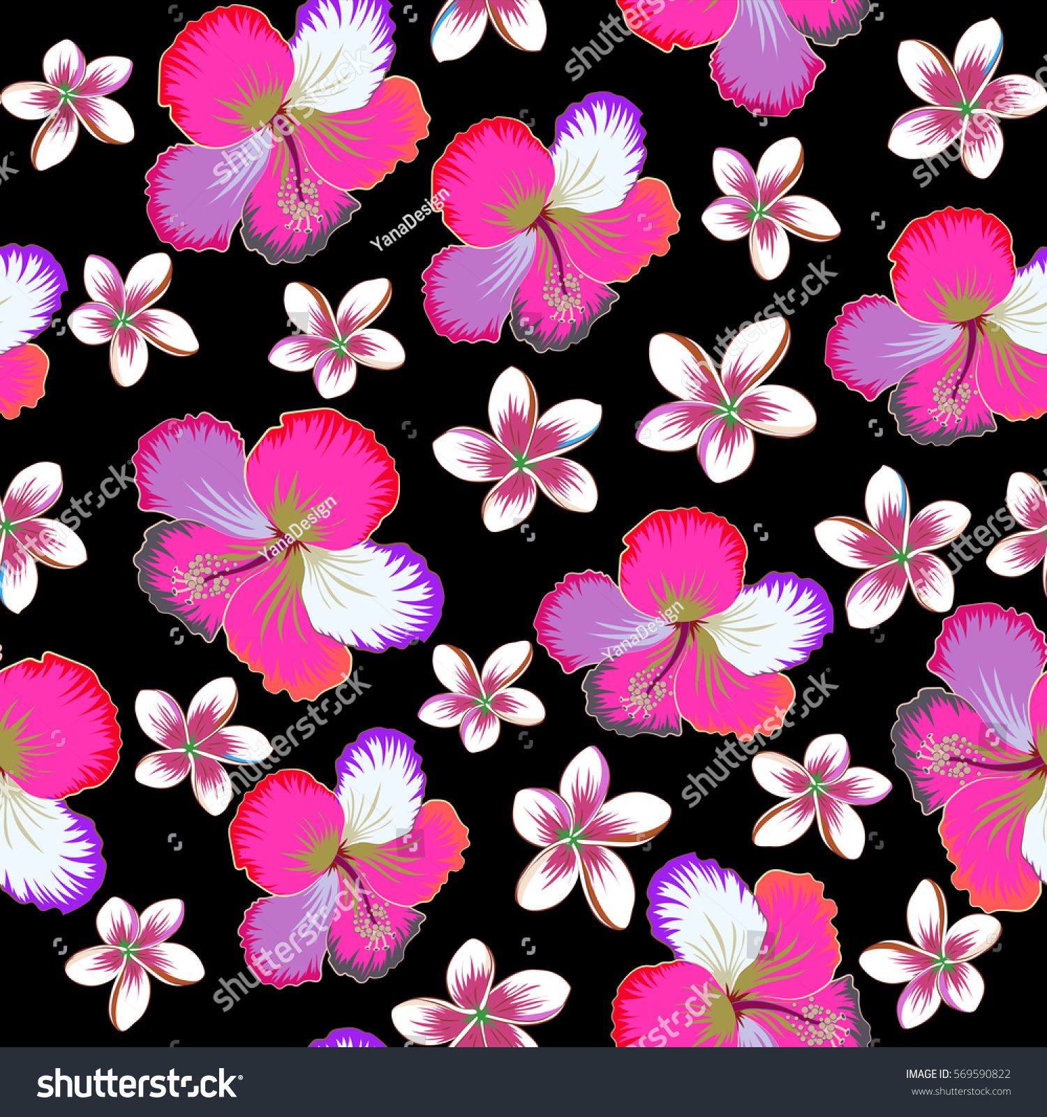 Hibiscus Floral Pattern Floral Seamless Pattern With Hibiscus