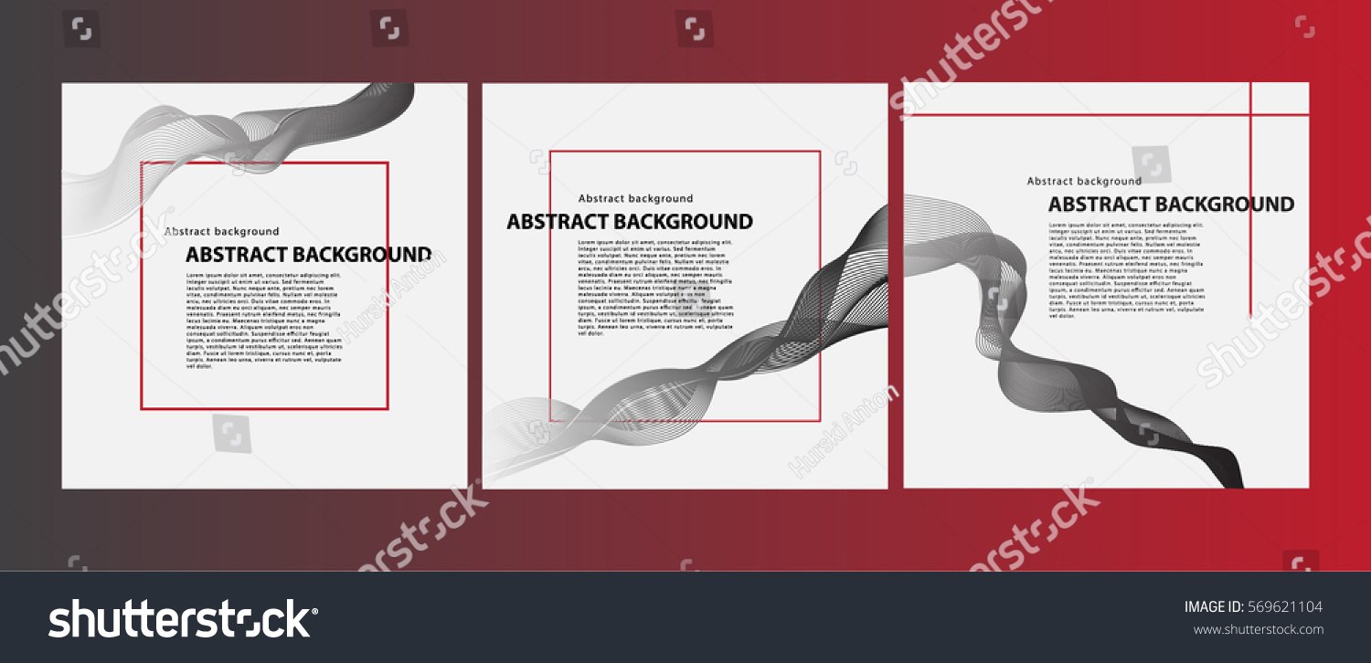 Abstract Background Example Layout Posters Websites Stock Vector
