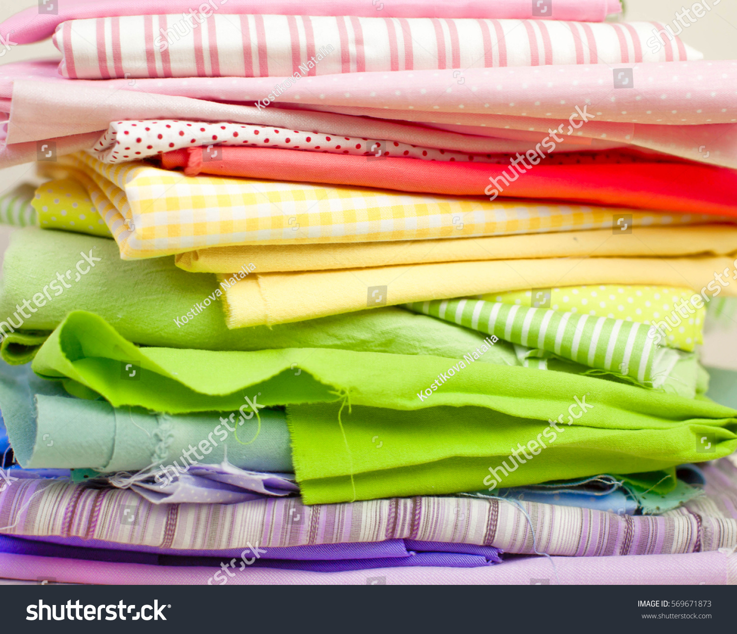 Accessories Sewing Lie On White Background Stock Photo