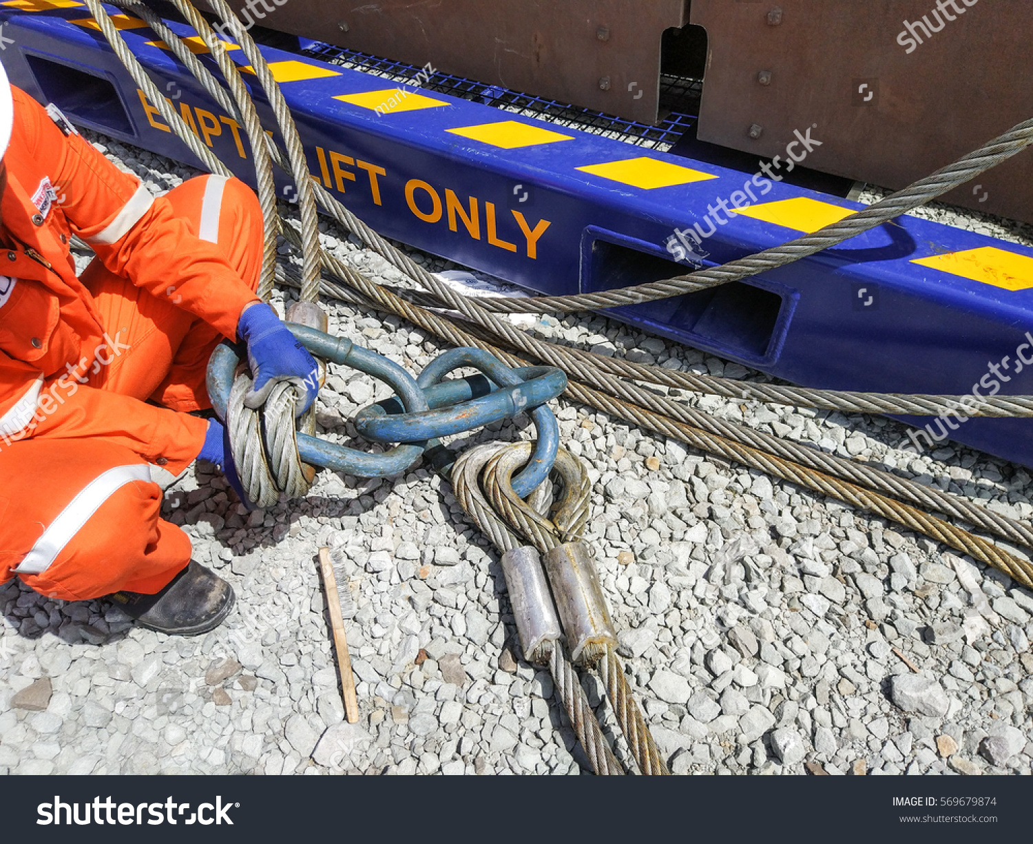 4 Legged Wire Sling Inspection Conducted Stock Photo (Edit Now ...