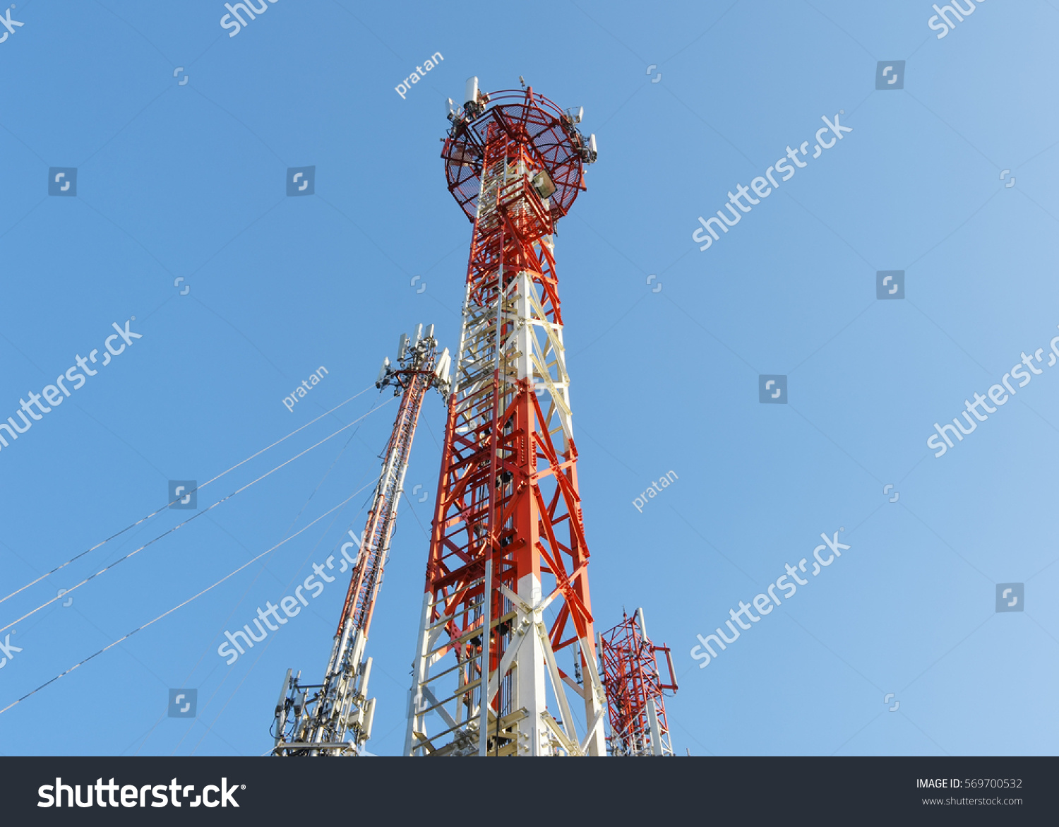 Mobile Phone Communication Repeater Antenna Mobile Stock Photo (Edit