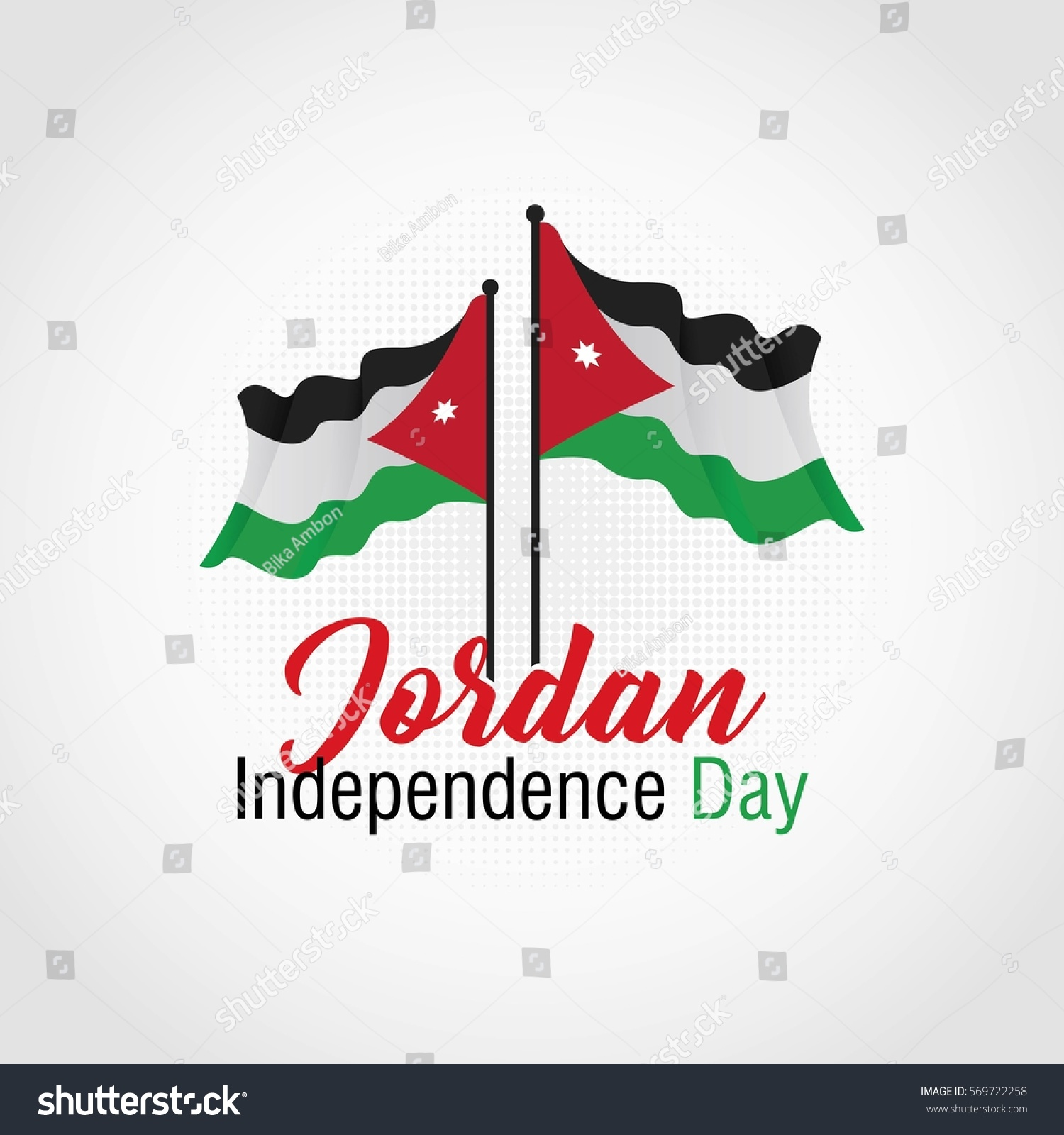 Jordan independence day vector illustration suitable stock vector jordan independence day vector illustration suitable for greeting card poster and banner biocorpaavc Gallery