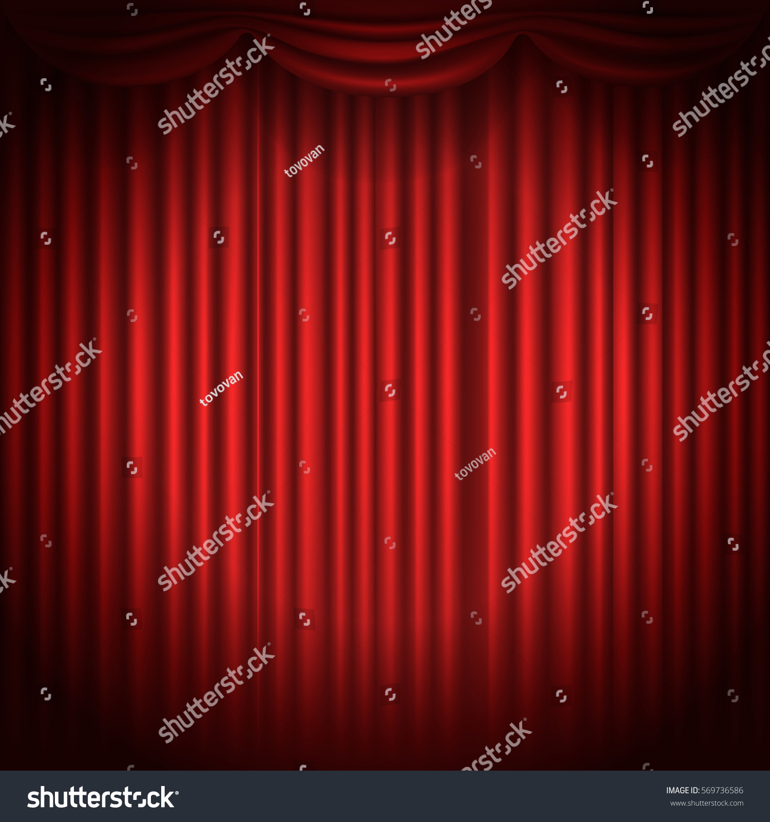 Theatre curtains png - Stage Curtains With Spot Light Vector Illustration